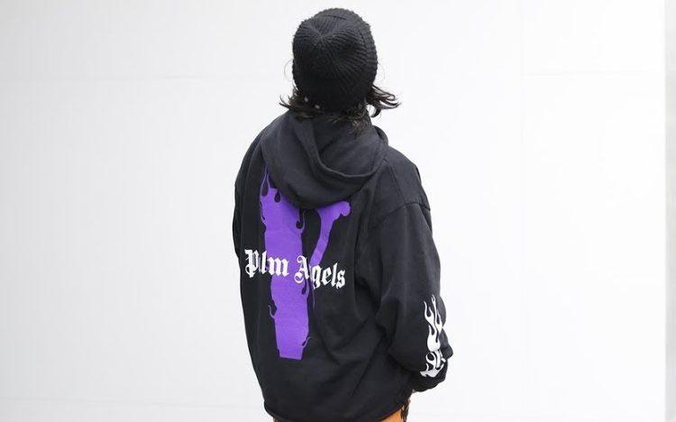 VLONE X Palm Angels Black Hoodie