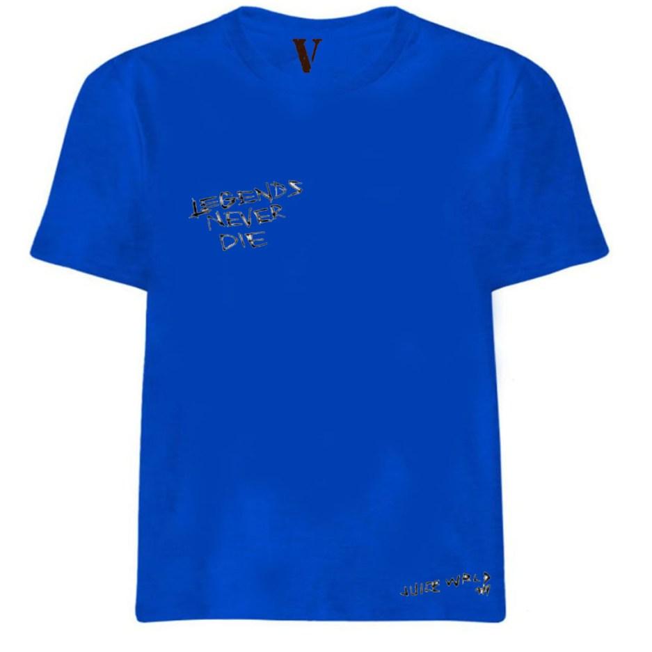 VLONE x Juice WRLD Legends Never Die T-Shirt Blue