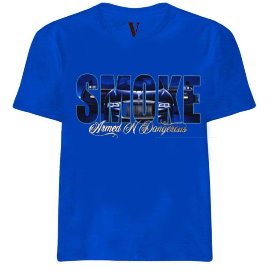 Vlone x Pop Smoke Armed N Dangerous Royal Blue T-Shirt