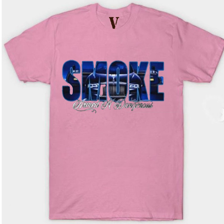 Vlone x Pop Smoke Armed N Dangerous Pink T-Shirt