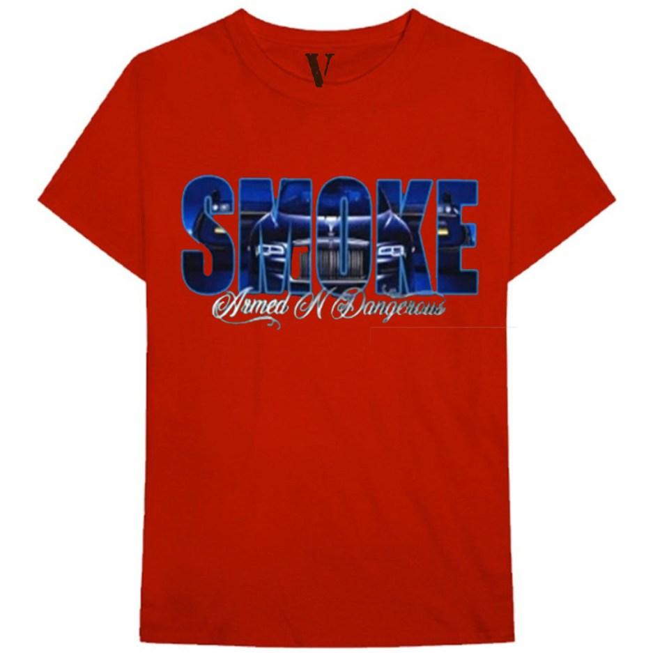 Vlone x Pop Smoke Armed N Dangerous Red T-Shirt
