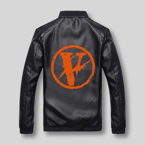 vlone black V logo jacket