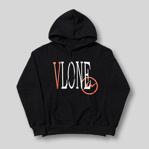 vlone new black hoodie