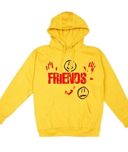 Vlone X Kika Drip Blood V Staple Friends hoodie