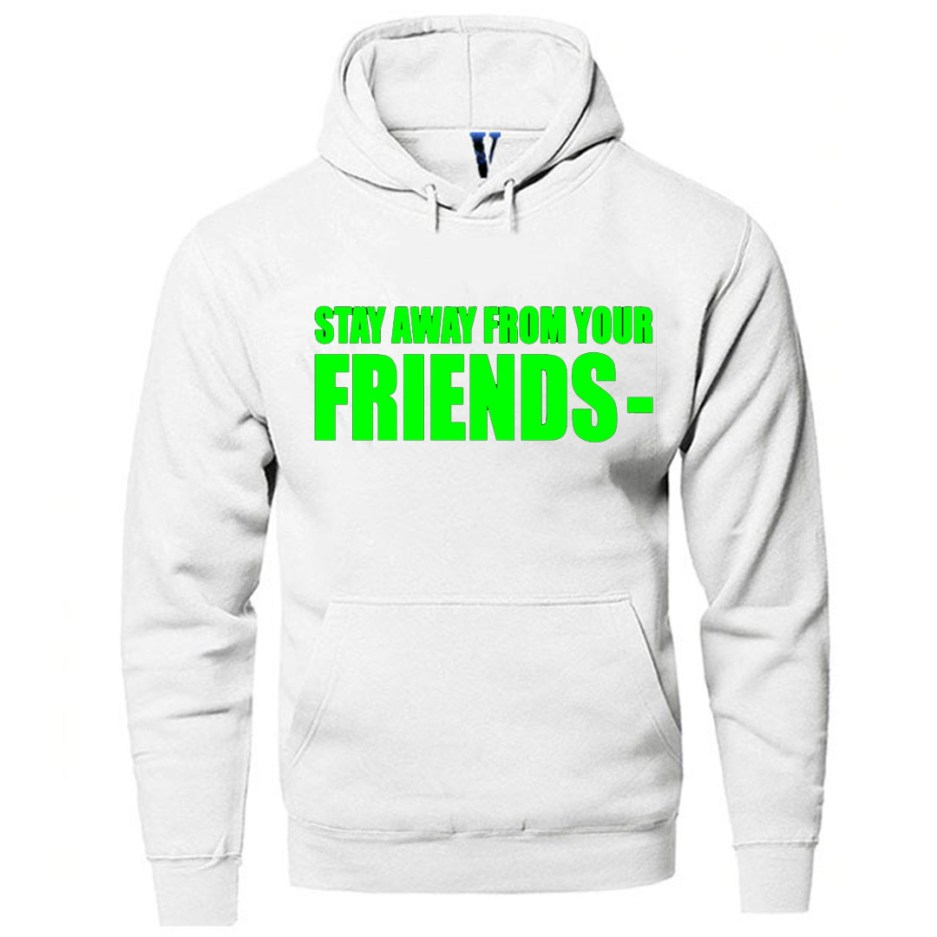 Vlone Stay Away From Your Friends Hoodie White
