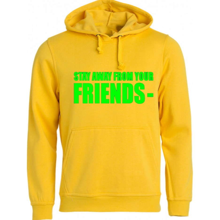 Vlone Stay Away From Your Friends Hoodie Yellow