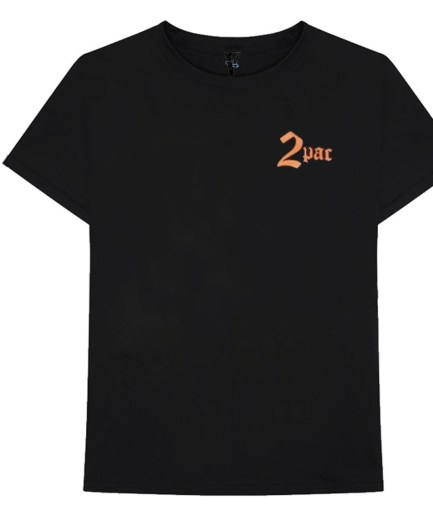 Vlone x Tupac Cross Black T-Shirt black