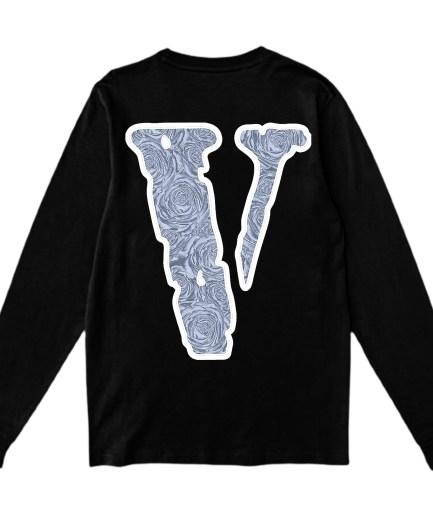 Vlone x Pop Smoke The Woo V Printed Sweatshirt Black-Back