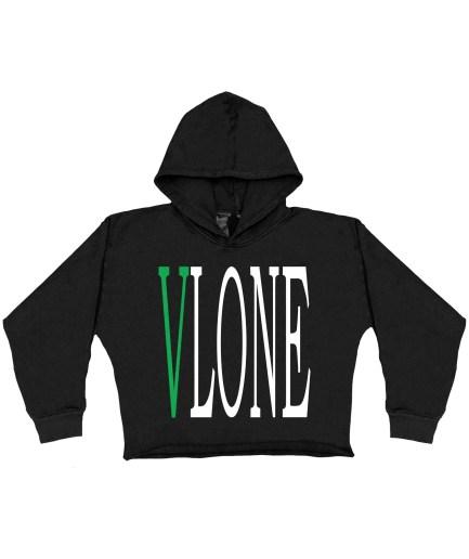 Vlone Staple Green Hoodie - Black - Kids (Front)