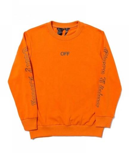 Vlone x OFF-WHITE Sweatshirt – Orange-Front