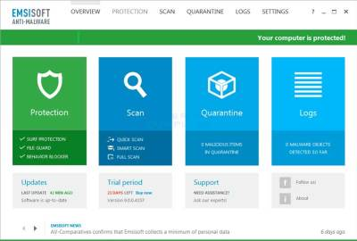 Emsisoft Anti-Malware 2020.10.0.10440 Crack With License Key 2021