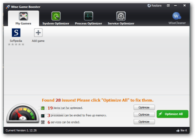 Wise Game Booster 1.56.80 Crack Patch Full Serial Key Free Download