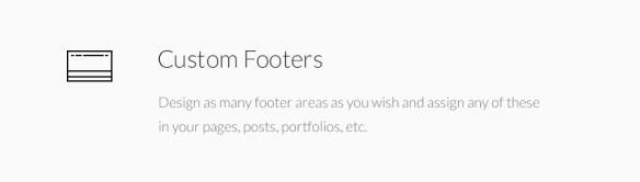 Custom Footers