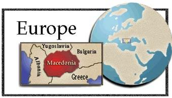 Location of Republic of Macedonia