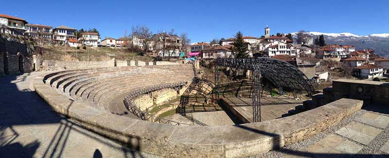 The ancient theater in Ohrid.
