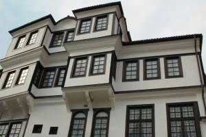 The house of the Robevi family in Ohrid, now the Museum of the City of Ohrid, an example of old town architecture.