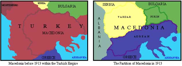 The partition of Macedonia.