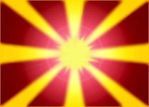 The Macedonian Flag.