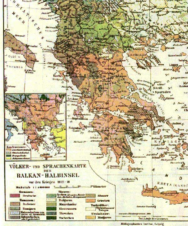 Map of Macedonia after World War I.