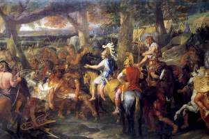 Alexander and Porus by Charles Le Brun, 1673