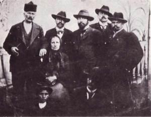 Dona Kovacheva, Marko Sekulichki, Goce Delchev, Mihail Gerdzhikov, Petko Penchev and Todor Stankov - Kjustendil, 1902.