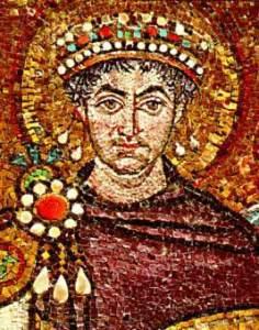 Portrait of the Byzantine emperor Iustinian I