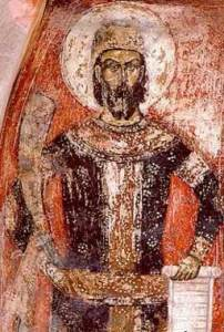 King Marko, a fresco in Marko's Monastery near Skopje