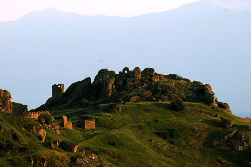 The Remainings of Markovi Kuli (Marko's Towers) in Prilep, Marko's Fortress.