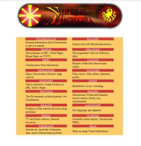 Virtual Macedonia Home Page 1999