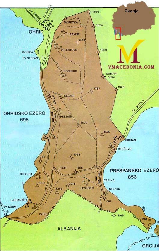 Galicica National Park Location