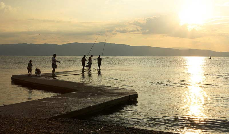 Fishing on Lake Ohrid.