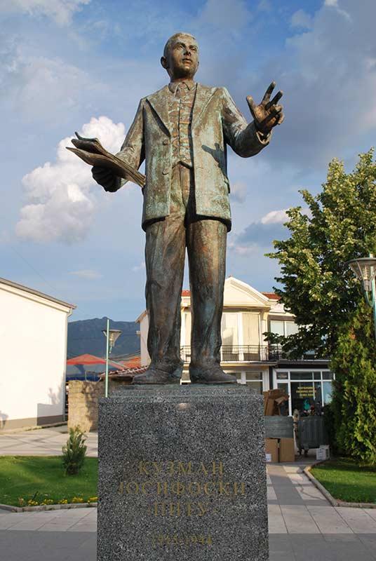 Kuzman Josifovski Pitu monument in Prilep.