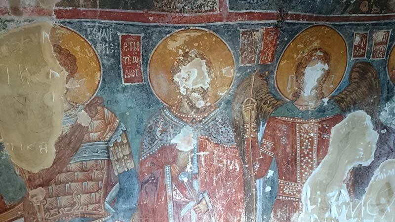 Fresco in St. Athanasius cave church