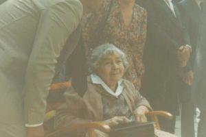 Lika Chopova Jurukova (19 February 1895, Kukush - 1983), Goce Delchev's granddaughter, in Skopje 1983.
