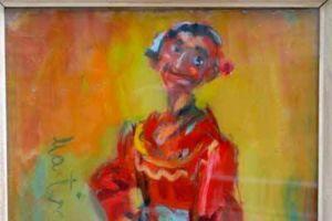 Nikola Martinoski - Gypsy woman with a red blouse - Циганка со црвена блуза - 1963