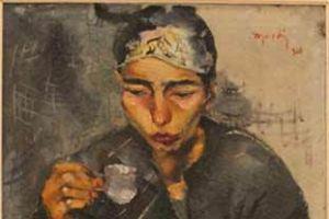 Nikola Martinoski - Gypsy woman drinking coffee - Циганка пие кафе - 1928