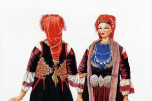 Woman's costume, Resen.