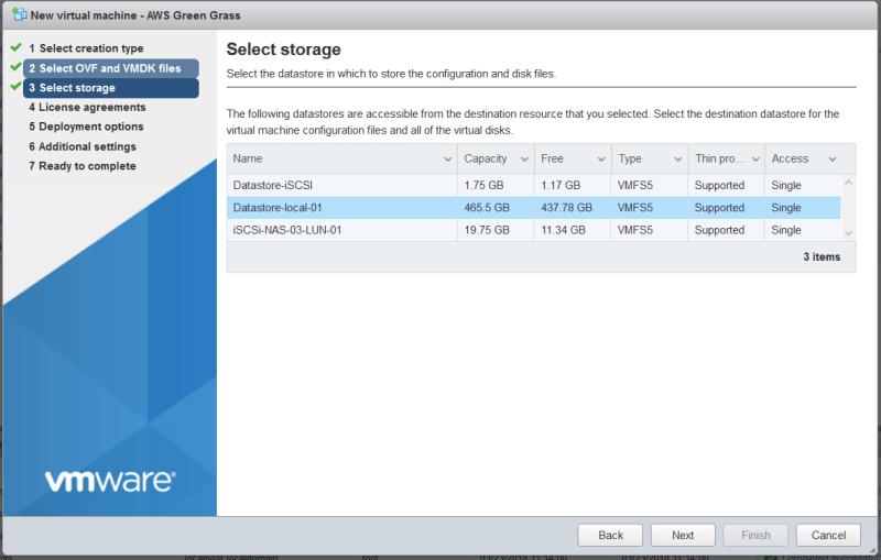 AWS Greengrass on VMware vSphere - Select DS
