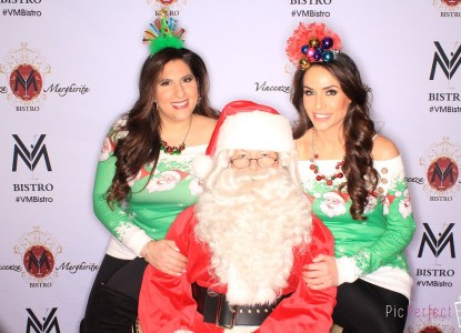 v and m with santa