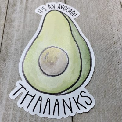 Avocado Vinyl Stickers
