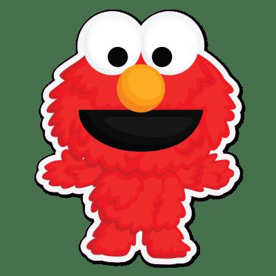 Sesame Street Elmo Vinyl Stickers