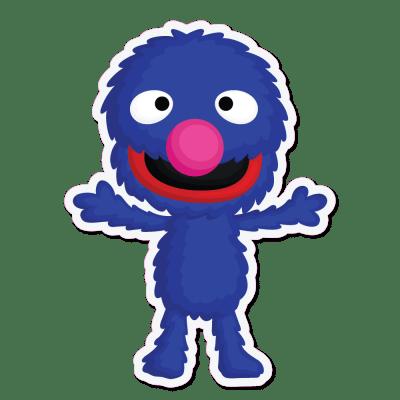 Sesame Street Grover Vinyl Stickers