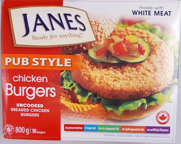 Janes Chicken Burgers Recalled Due To Possible Salmonella