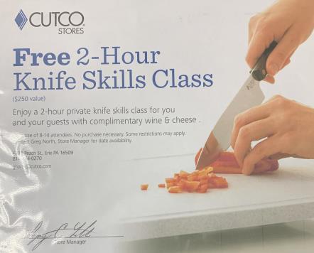 2-Hour Knife Skills Class