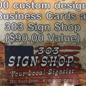 cert for 1,000 Custom Business Cards