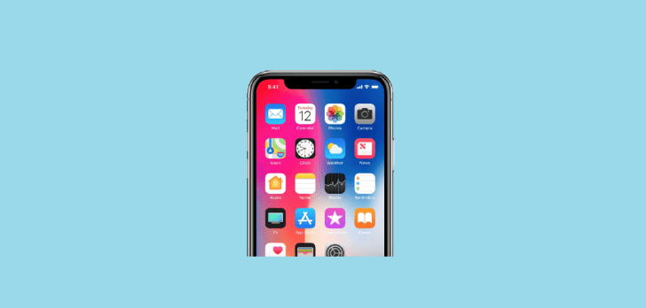Apps on iPhone X