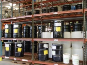 Hazardous Waste Drum Storage Area