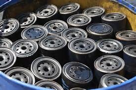 Used Oil Filter Storage Drum
