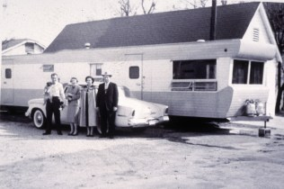Early days of mobile homes.