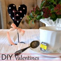 DIY Valentines Hand-stitched Placecards